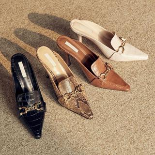 eimy istoire - eimyistore 靴 エイミー ビットローファーミュール