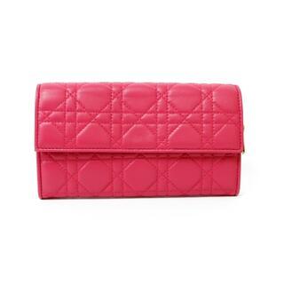 ディオール(Dior)の【中古】ディオール Dior 長財布 美品 プレゼント キーホルダー付き レザー(財布)