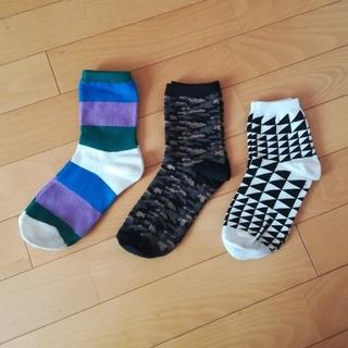 ウィゴー(WEGO)の柄物靴下3点セット(ソックス)