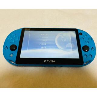 プレイステーションヴィータ(PlayStation Vita)の☆画面傷無し☆PSVita PCH-2000 ZA23 本体 アクアブルー (家庭用ゲーム機本体)