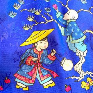ロキエ(Lochie)のチャイナ柄シルクシャツ 中国 itimi vinvini hooked toro(シャツ/ブラウス(半袖/袖なし))