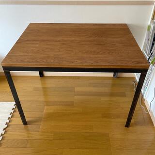 ムジルシリョウヒン(MUJI (無印良品))のtoolbox 無垢材ホワイトオーク×アイアンテーブル(ダイニングテーブル)