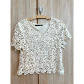 ヘザー(heather)のheather 花模様Tシャツ(フリーサイズ)(Tシャツ(半袖/袖なし))