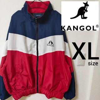 カンゴール(KANGOL)のKANGOL 赤×紺 ナイロンジャケット ジャンパー メンズ XL ジャケット(ナイロンジャケット)