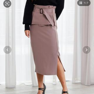 リップサービス(LIP SERVICE)のペプラムベルトタイトスカート(ひざ丈スカート)