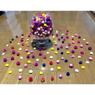 銀の紫陽花が作ったキャンディみたいに可愛い千日紅のドライフラワー山盛り100冠!(ドライフラワー)