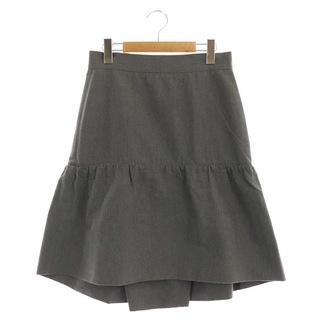 ドゥロワー(Drawer)のドゥロワー スカート ロング ティアード バックボタン シルク混 40 グレー(その他)