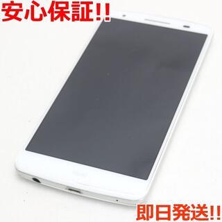 エルジーエレクトロニクス(LG Electronics)の美品 au LGL22 isai ホワイト 白ロム SIMロック解除済み(スマートフォン本体)