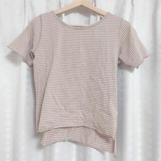 ミスティック(mystic)の半袖 ボーダーシャツ(Tシャツ(半袖/袖なし))