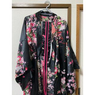 計3点 コスプレ 浴衣 ブラック(衣装一式)