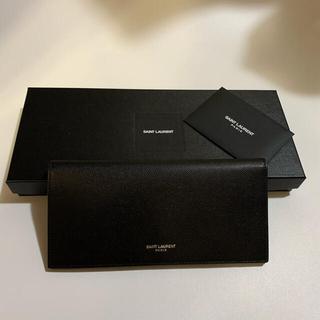 サンローラン(Saint Laurent)の新品 SAINT LAURENT サンローラン レザー 小銭入れ付き 長財布 黒(長財布)