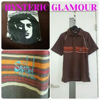ヒステリックグラマー(HYSTERIC GLAMOUR)のHysteric Glamour  ポロシャツ 60~70s風 ヴィンテージ加工(ポロシャツ)