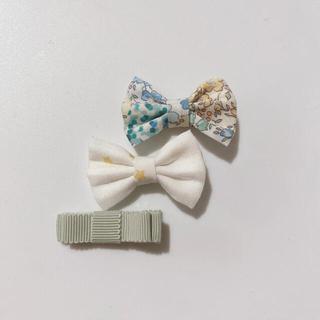 ボンポワン(Bonpoint)の805.夏のウキウキセット♡ハンドメイド、ヘアクリップ、リバティ生地使用(ファッション雑貨)