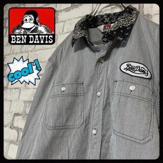 ベンデイビス(BEN DAVIS)の【クール♪】BEN DAVIS ベンデイビス/ワークシャツ ストライプ 刺繍(シャツ)