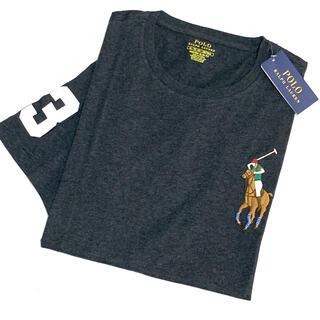 ラルフローレン(Ralph Lauren)のメンズ S 新品 マルチ ビッグポニー×ナンバリング T ヘザーチャコールグレー(Tシャツ/カットソー(半袖/袖なし))