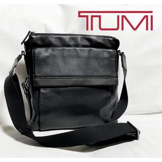 トゥミ(TUMI)のTUMI トゥミ 牛革 レザー ショルダーバッグ ブラック(ショルダーバッグ)