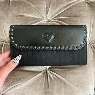 クリスチャンディオール(Christian Dior)のクリスチャンディオール ❤️ レザー ハート ヴィンテージ 長財布(財布)