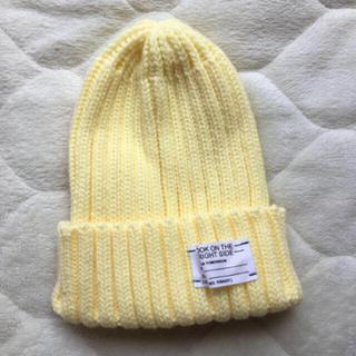 最終値下げ‼️パステルイエローニット帽