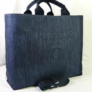 プラダ(PRADA)の週末価格 レアモデル 極美品 DENIM 2wayトートバッグ デニム プラダ(トートバッグ)