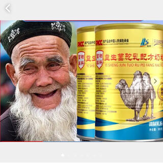 新疆ウイグル中国軍•武警幹部用高品質駱駝粉ミルク300g ラクダ 免疫力向上(その他)