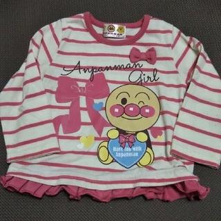 バンダイ(BANDAI)のアンパンマン ボーダー リボン フリル 長袖 Tシャツ 80cm(Tシャツ)