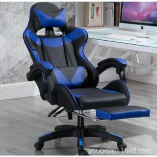 セール ゲーミングチェア オフィスチェア 椅子 リクライニング フットレスト(ハイバックチェア)