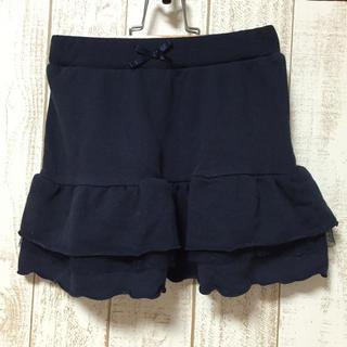 ジーユー(GU)のgu☆ネイビースウェットスカート 130cm(スカート)