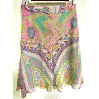 ハロッズ(Harrods)の最終値下げ ハロッズ 花柄スカート サイズ2 美品(ひざ丈スカート)