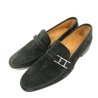 エルメス(Hermes)のエルメス ローファー ビジネスシューズ スエード H金具  40 25.0cm(ローファー/革靴)