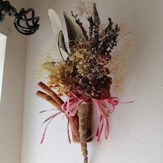 アンティークドライフラワースティック スワッグ 花束(ドライフラワー)