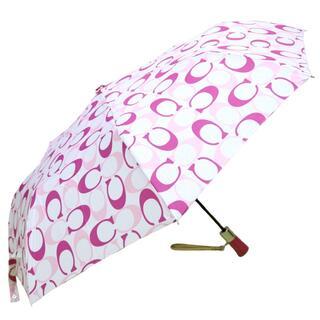 コーチ(COACH)の【中古】コーチ COACH 傘 折り畳み傘 梅雨 雨具 ポリエステル(傘)