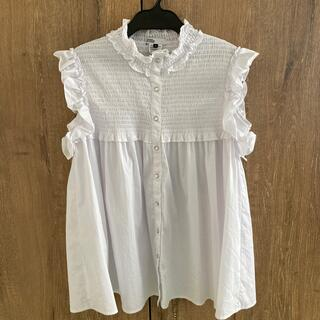 ダブルスタンダードクロージング(DOUBLE STANDARD CLOTHING)のダブルスタンダードクロージング白トップス(シャツ/ブラウス(半袖/袖なし))