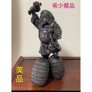七福神布袋大黑天様、縁起物。骨董品。重さ4.2Kg高さ35cm中古美品。美術品。(彫刻/オブジェ)