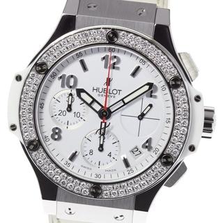 ウブロ(HUBLOT)の☆美品 ウブロ ビッグバン スチールホワイト ダイヤモンド メンズ 【中古】(腕時計(アナログ))