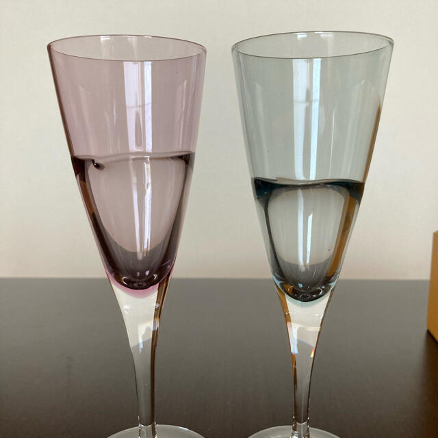 Sghr(スガハラ)のスガハラガラス デュオ ワイングラス インテリア/住まい/日用品のキッチン/食器(グラス/カップ)の商品写真