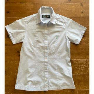 イーストボーイ(EASTBOY)のEASTBOY Cool Max半袖シャツ〈ブルーラメ〉 3205021(シャツ/ブラウス(半袖/袖なし))