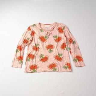 ピンクハウス(PINK HOUSE)のPINK HOUSE ピンクハウス イチゴ柄 総柄 カットソー(Tシャツ(長袖/七分))