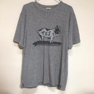 バートン(BURTON)のTES フレンチブルドッグ パイル地Tシャツ(Tシャツ/カットソー(半袖/袖なし))