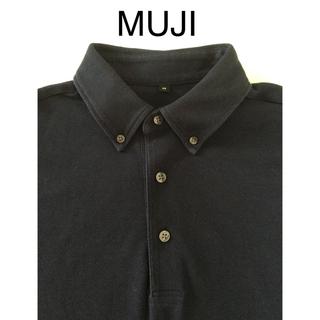 ムジルシリョウヒン(MUJI (無印良品))のMUJI 無印良品 ポロシャツ メンズ 紺色(ポロシャツ)
