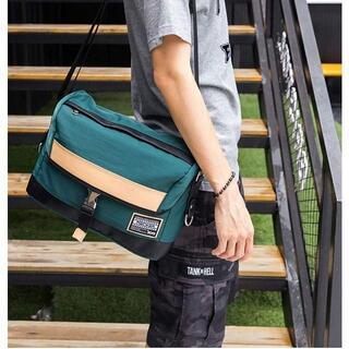 ショルダーバッグ メンズ 斜めがけ メッセンジャーバッグ 防水 多機能 グリーン(メッセンジャーバッグ)