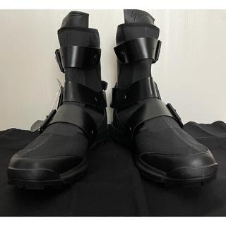 ヨウジヤマモト(Yohji Yamamoto)のH00720 yohji yamamoto×adidas ロゴ ブーツ(ブーツ)