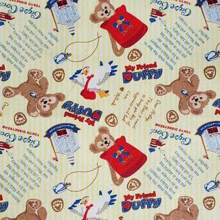 ダッフィー(ダッフィー)のキャンバス生地 帆布 イエローストライプ ダッフィー*145㎝×50㎝(生地/糸)