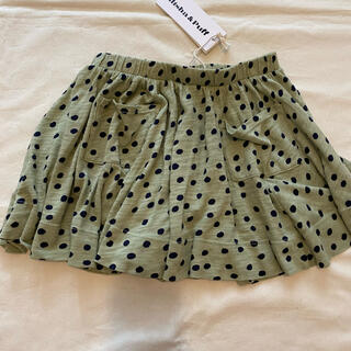 キャラメルベビー&チャイルド(Caramel baby&child )のmisha and puff ドットスカート 4-5y(スカート)