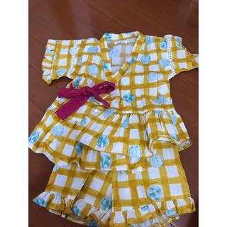 アンパサンド(ampersand)のAmpersand アンパサンド 女児ジンベイ甚平浴衣 サイズ100 (甚平/浴衣)