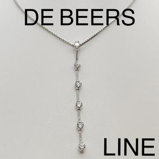 デビアス(DE BEERS)のDE BEERS デビアス LINE K18WG ダイヤ ネックレス 神楽坂宝石(ネックレス)