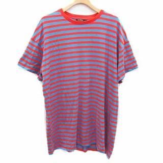 マリメッコ(marimekko)のマリメッコ Tシャツ カットソー 半袖 クルーネック ボーダー S 青 赤(Tシャツ/カットソー(半袖/袖なし))
