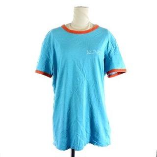 ディースクエアード(DSQUARED2)のディースクエアード Tシャツ カットソー 半袖 M 青 ブルー オレンジ(Tシャツ(半袖/袖なし))