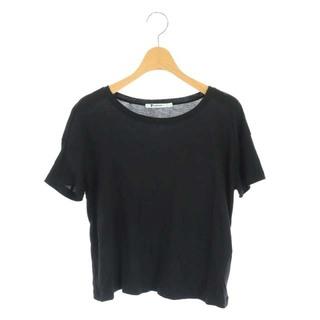 アレキサンダーワン(Alexander Wang)のアレキサンダーワン Tシャツ カットソー 半袖 プルオーバー XS 黒 ブラック(Tシャツ(半袖/袖なし))