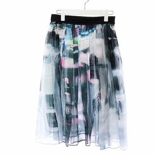 ツモリチサト(TSUMORI CHISATO)のツモリチサト 17AW フレアスカート ギャザースカート 2 M マルチカラー(ひざ丈スカート)
