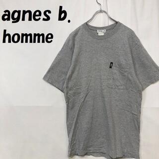 アニエスベー(agnes b.)の【人気】アニエスベー オム 胸ポケット 半袖 Tシャツ グレー サイズ1(Tシャツ/カットソー(半袖/袖なし))